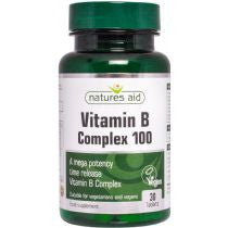 Natures Aid Vitamin B Complex 100 (Mega Potency) Time Release