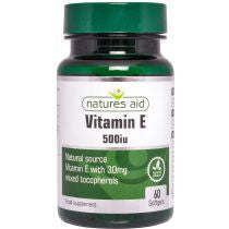Vitamin E 500iu Natural Form- 60 Capsules