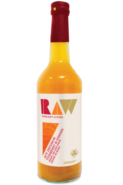RAW Organic Apple Cider Vinegar Infusion Turmeric And Ginger - 500ml