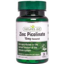 Natures Aid Zinc Picolinate 15mg elemental