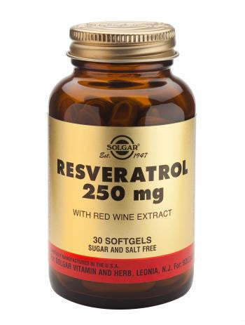 Solgar Resveratrol 250 mg Softgels - 30 Softgels