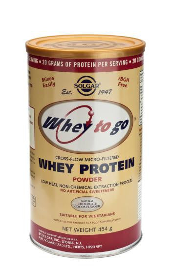 Solgar  Whey To Go(R) Whey Protein Powder Natural Chocolate Flavour Size