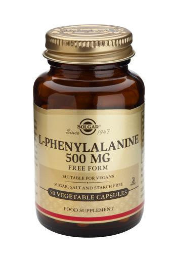 Solgar L-Phenylalanine 500 mg Vegetable Capsules - 50 capsules