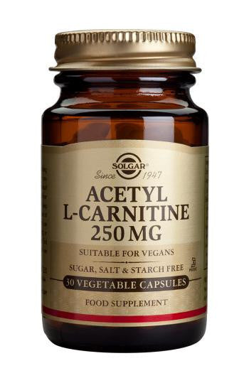 Solgar Acetyl-L-Carnitine 250 mg Vegetable Capsules - 30 Capsules