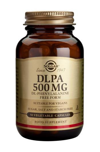 Solgar DLPA DL-Phenylaline 500 mg Vegetable Capsules - 50 Capsules