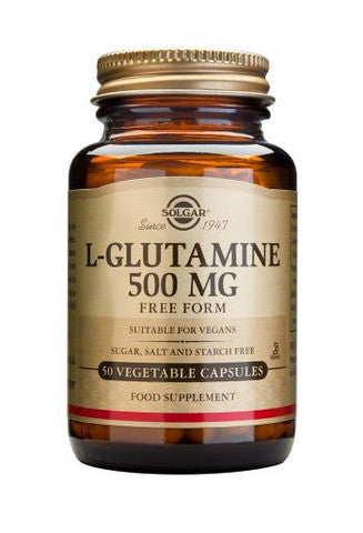 Solgar L-Glutamine 500 mg Vegetable Capsules