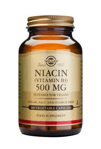Niacin 500 mg (Vitamin B3) 100 Vegetable Capsules