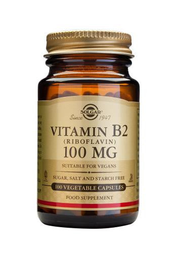 Solgar Vitamin B2 100 mg (Riboflavin) 100 Vegetable Capsules
