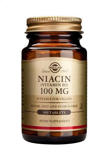 Solgar Niacin 100 mg (Vitamin B3) 100 Tablets