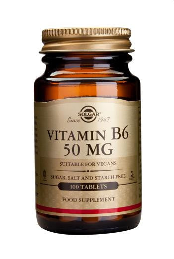 Solgar Vitamin B6 50 mg 100 Tablets