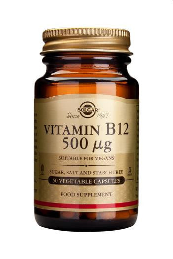 Solgar  Vitamin B12 500 µg Vegetable 50 Capsules