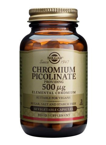 Solgar  Chromium Picolinate 500 µg 60 Vegetable Capsules