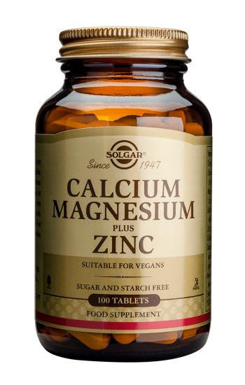Solgar Calcium Magnesium Plus Zinc Tablets