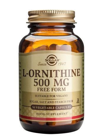 Solgar  L-Ornithine 500 mg Vegetable Capsules - 50 Capsules