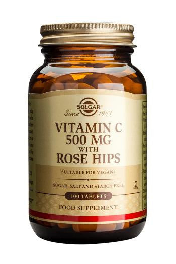Solgar Vitamin C 500 mg with Rose Hips Tablets
