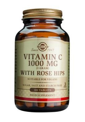 Solgar Vitamin C 1000 mg with Rose Hips Tablets