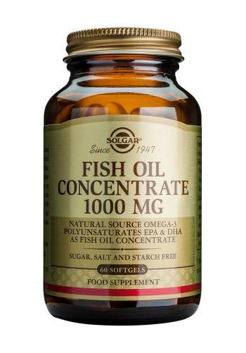 Solgar Fish Oil Concentrate 1000 mg Softgels