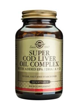 Solgar  Super Cod Liver Oil Complex Softgels - 60 Softgels