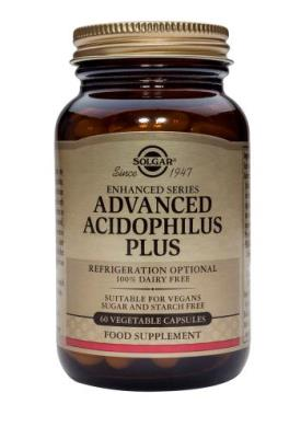 Solgar Advanced Acidophilus Plus (100% Dairy Free) Vegetable Capsules