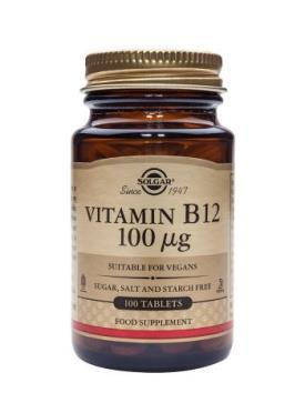 Solgar Vitamin B12 100 µg 100 Tablets