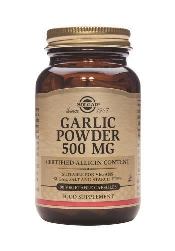 Solgar Garlic Powder 500 mg 90 Vegetable Capsules