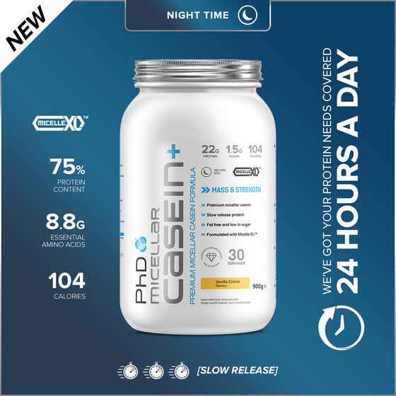PhD Micellar Casein+  -  900g (30 Servings)