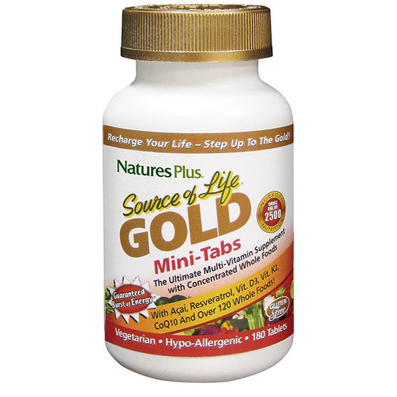 Nature's Plus Source of Life Gold Mini 180 - 180 Tabs