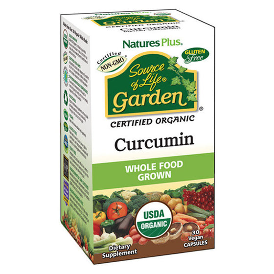 Nature's Plus - Source of Life Garden- Curcumin - 30 Vegan Capsules