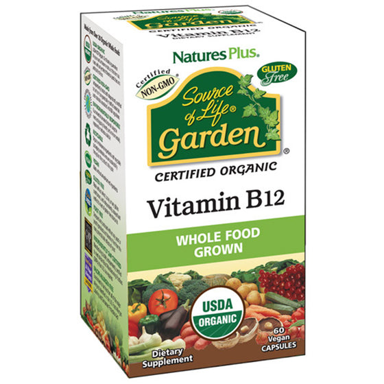 Nature's Plus - Source of Life Garden- Vitamin B12 - 60 Vegan Capsules