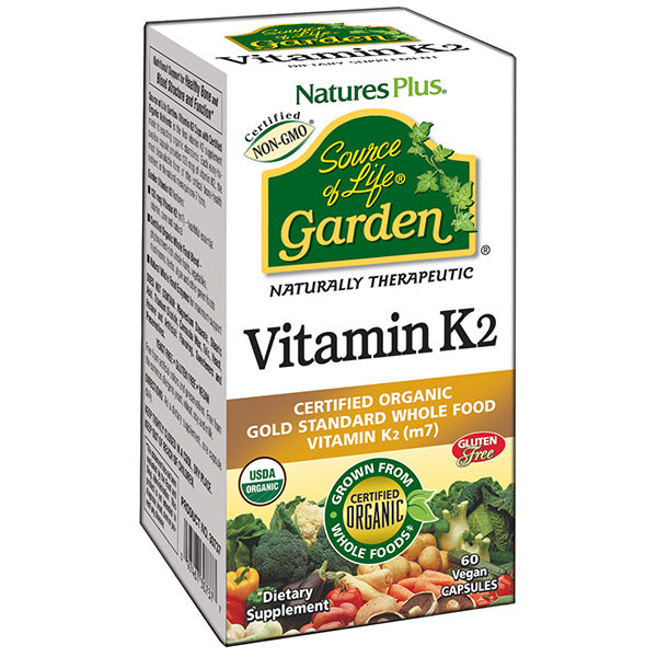 Nature's Plus - Source of Life Garden- Vitamin K2 - 60 Vegetarian Capsules