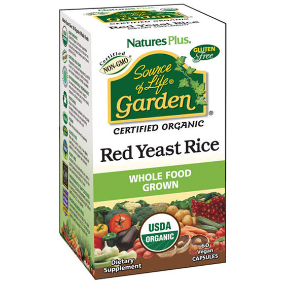 Nature's Plus - Source of Life Garden Red Yeast Rice 60 Capsules