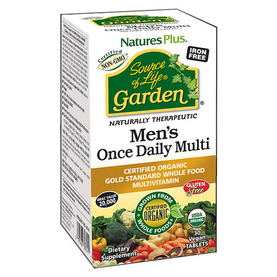 Nature's Plus - Source of Life Garden- Men's Once Daily Multi - 30 Vegan Tablets