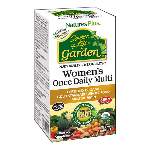 Nature's Plus Source of Life Garden-Women's Once Daily Multi -  30 Vegan Tablets