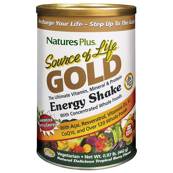 Nature's Plus Source of life GOLD Energy Shake Tropical Berry 442g