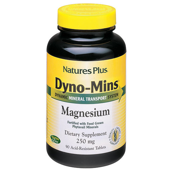 Natures Plus Dyno-Mins Magnesium 250mg - 90 Tablets