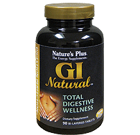 Natures Plus GI Natural Digestive Wellness - 90 Bi-Layered Tablets