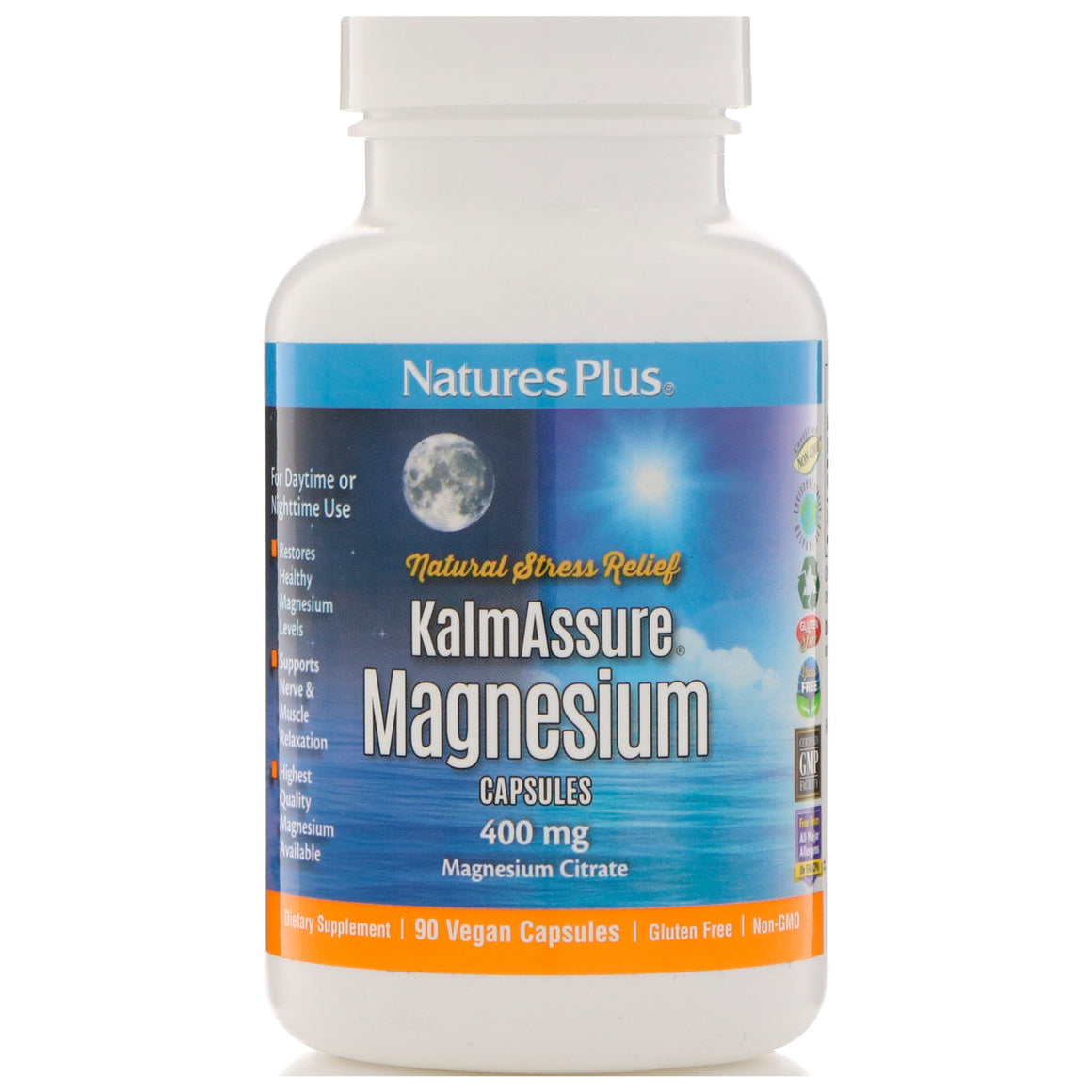 Nature's Plus Kalmassure Magnesium 400mg - 90 Vegan Capsules
