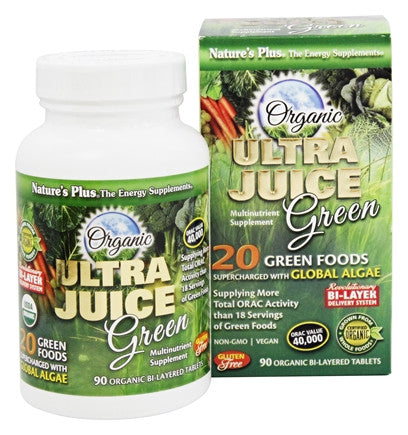 Natures Plus Organic Ultra Juice Green 90 Capsules