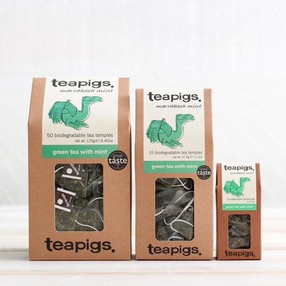 Teapigs Marrakesh Mint, Green Tea with Mint - 15 Tea Temples