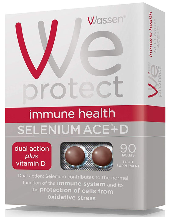 Wassen We Protect Immune Health Selenium ACE + D - 90 Tablets