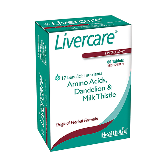 HealthAid Livercare - 60 Tablets (Two-A-Day)
