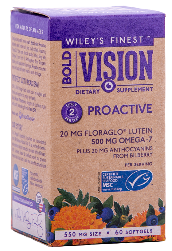 Wiley's Finest Bold Vision (500MG OMEGA-7 PER SERVING) - 60 Capsules