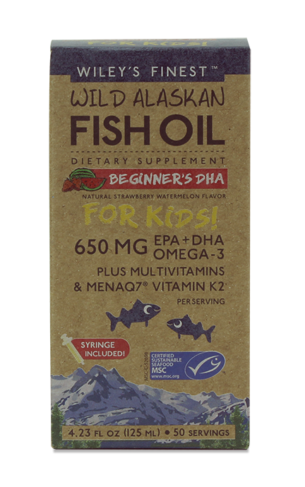 Wiley's Finest Beginner's DHA for kids, (650MG EPA+DHA PER SERVING)  - 50 SERVINGS