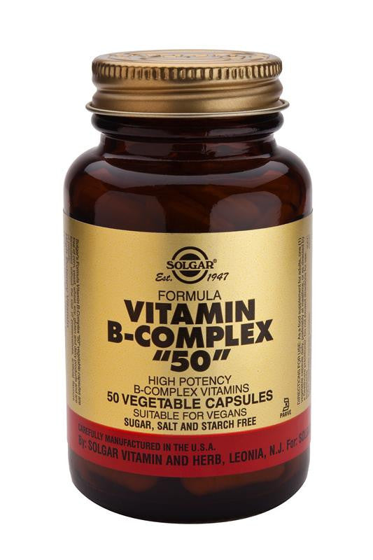 "Solgar Formula Vitamin B-Complex ""50"" Vegetable Capsules"