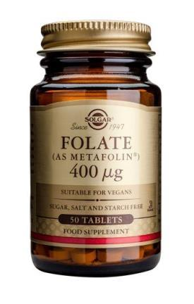 Solgar Folate 400 μg (as Metafolin®) - 50 Tablets