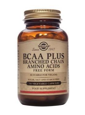 Solgar BCAA Plus Vegetable Capsules - 50 Capsules
