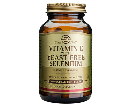 Vitamin E with Yeast Free Selenium Vegetable Capsules