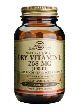 Vitamin E 268 mg Dry (400 IU) 50 Vegetable Capsules