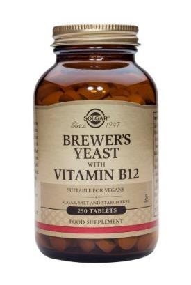 Solgar Brewer's Yeast with B12 Tablets