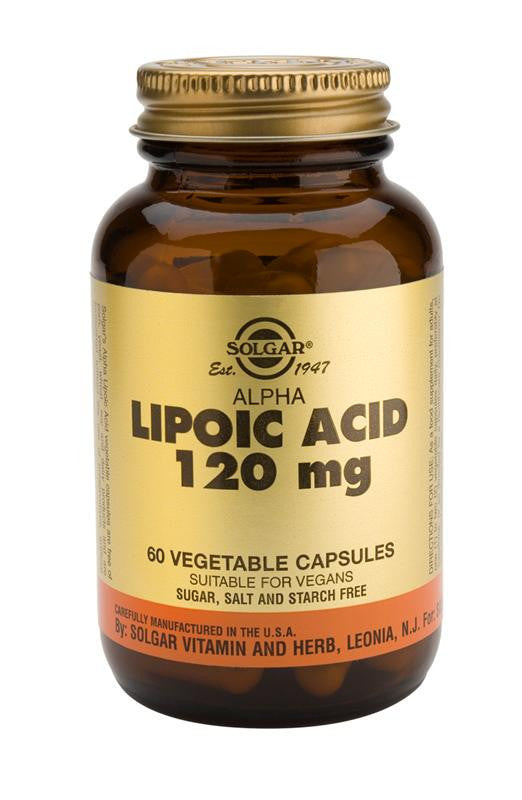 Solgar Alpha Lipoic Acid 120 mg Vegetable Capsules - 60 Capsules